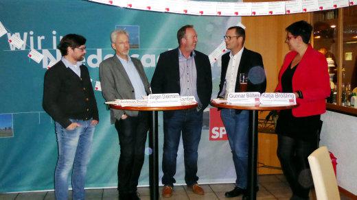 V. l.: Andreas Pomplun, Jürgen Diekmann, Uwe Santjer, Gunnar Böltes, Katja Brößling