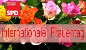 Internationaler Frauentag, SPD Geestland, Rosen