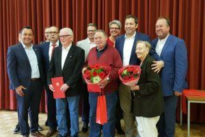 Jubilare der SPD Geestland mit Lars Klingbeil